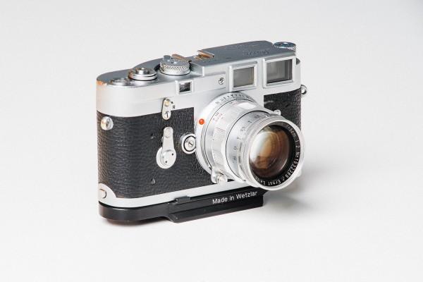 Leica M series Arca-Swiss type base plate Matte Silver